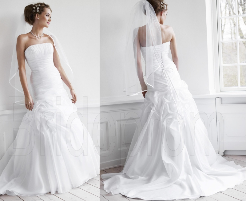 100+ Ball Gown Ivory Tulle Wedding Dresses 2015 Strapless